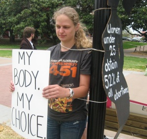 Murray State demonstrations, pro-life, pro-choice, wkms